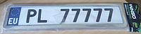 Рамка номерного знака нерж.хром метал.Winso