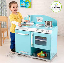 Дерев'яна яна кухня, мийка KidKraft BLUE RETRO STOVE