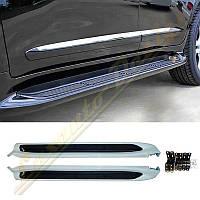 Пороги-подножки с подсветкой Toyota Land Cruiser 200 2008-16