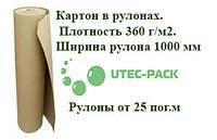 Картон в рулонах. Плотность 360 г/м2. Ширина рулона 1000 мм, фото 1
