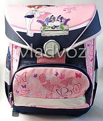 Школьный рюкзак для девочек розовый бабочки Kite