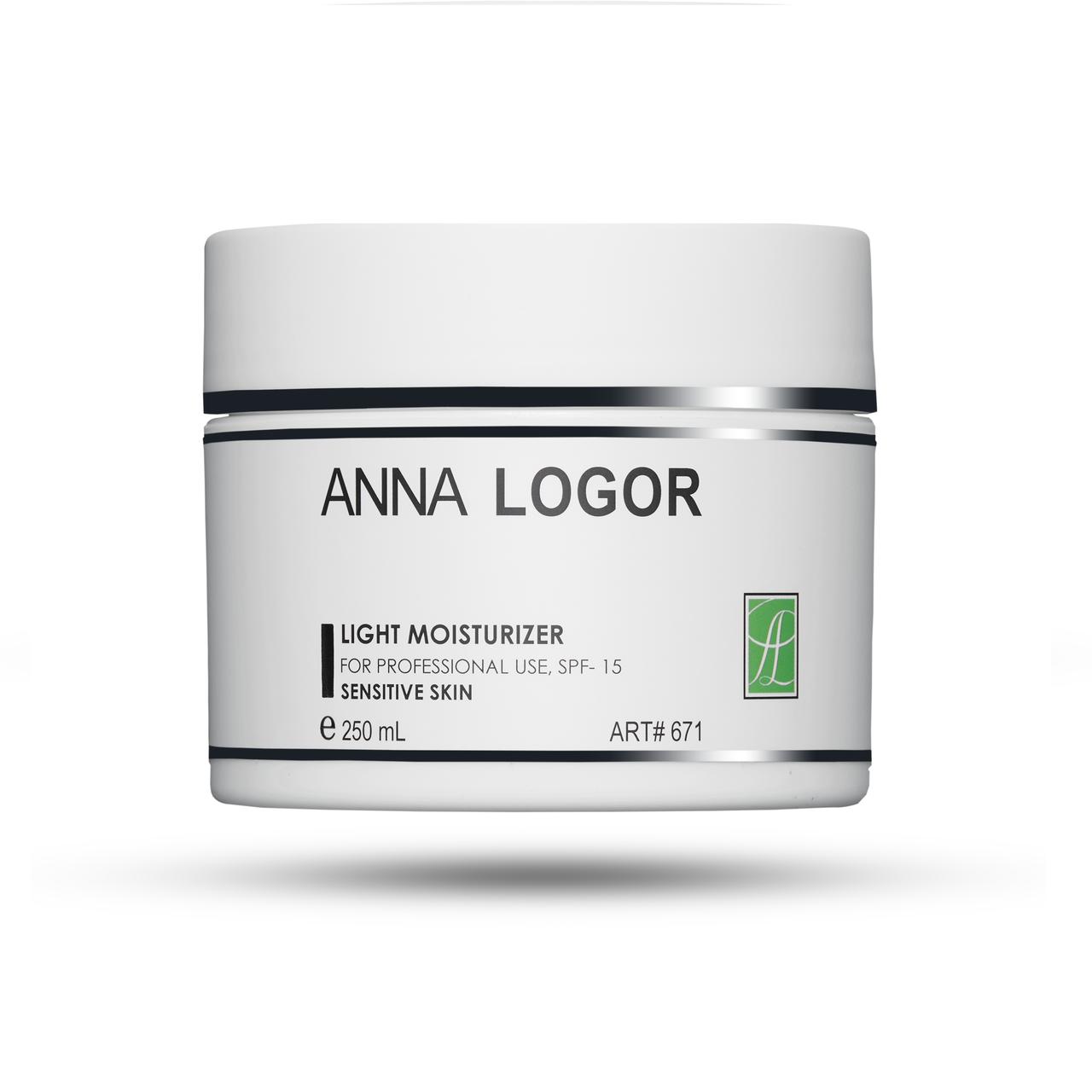 Легкий крем для чутливої шкіри Анна Логор / Anna Logor Light Moisturizer for Sensitive Skin 250 мл Код 671