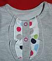 Сарафан хлопковый трикотажный (двунитка) серый (Nicol, Польша), фото 3