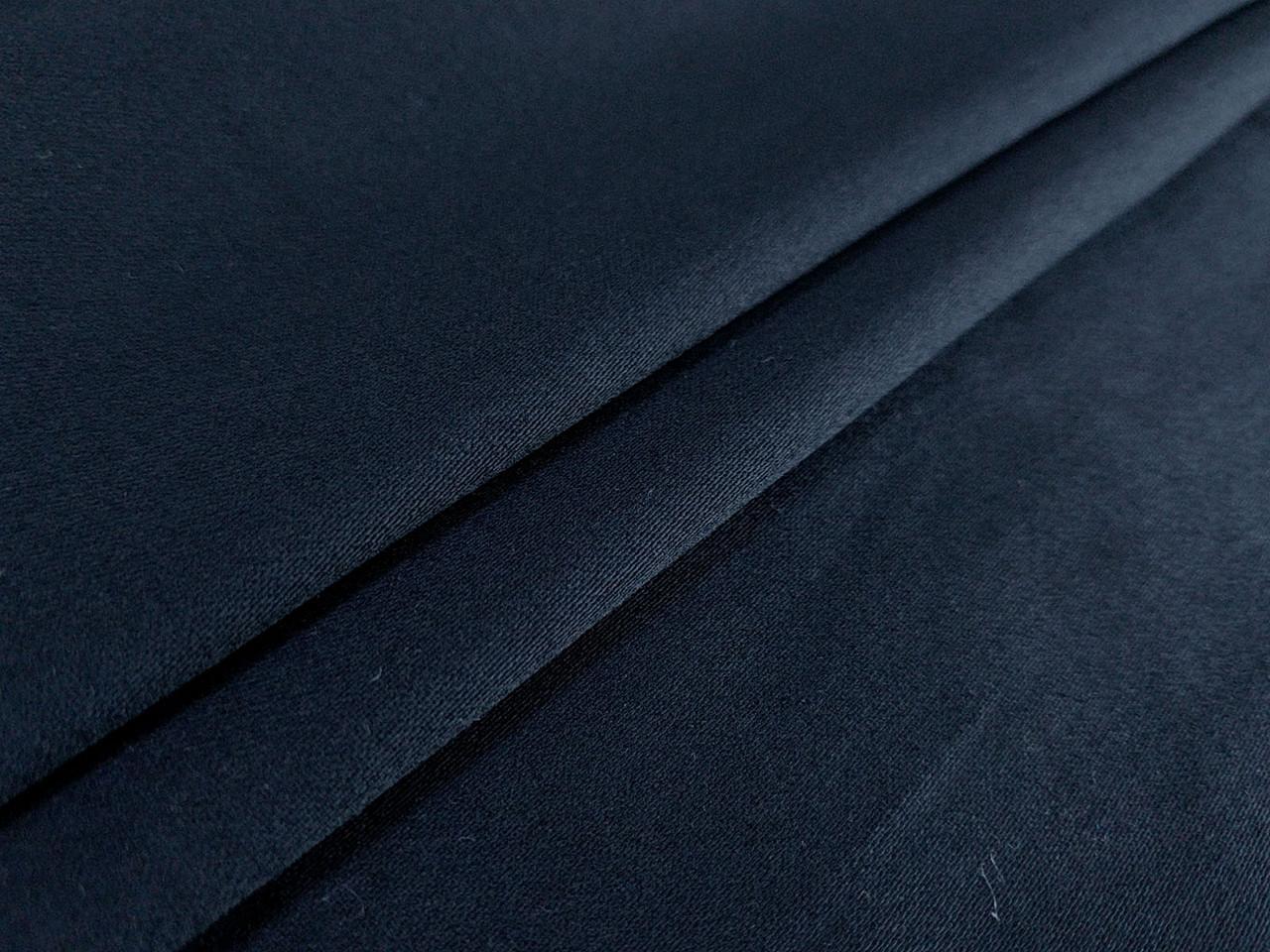 Коттон сатин плотный, темно-синий