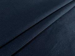 Ткань коттон сатин плотный, темно-синий