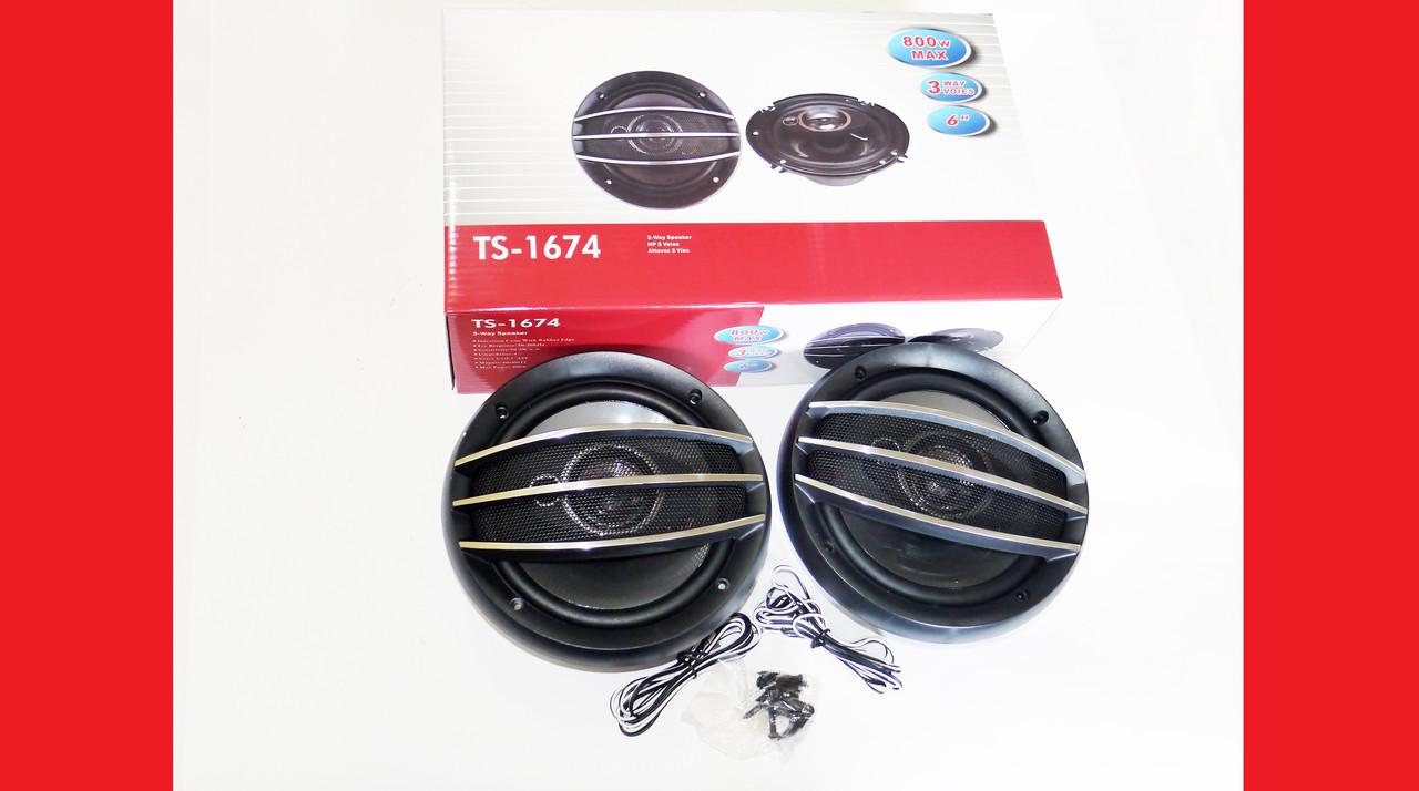 Автомобильная акустика Pioneer TS-A 1674S 16 см 250 W 2х полосная