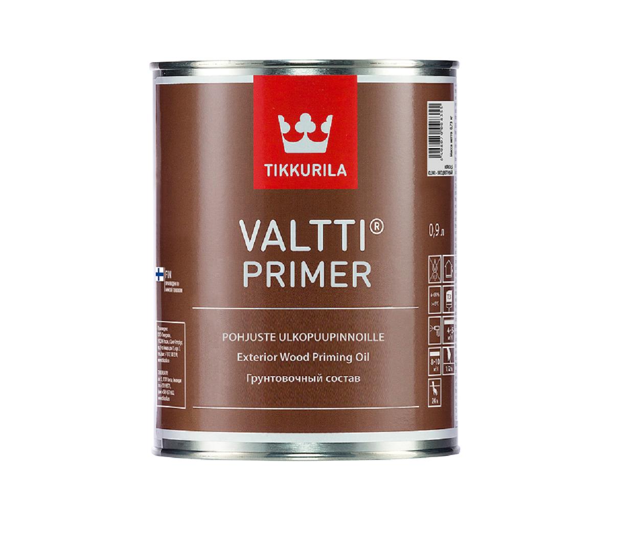 Грунтувальний антисептик для дерева Tikkurila Валтті Праймер Valtti Primer 0.9л