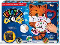 """Подарочный набор. Креативные часы. """"Creative clock"""" """"Котик"""""""