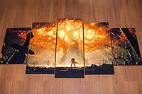 Варкрафт. Warcraft. 80х150 см. Модульная картина.