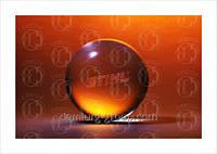Награда из стекла в форме шара