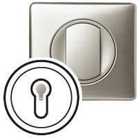 Лицевая панель - Программа Celiane-выключатель с ключом трехпозиционный с самовозвратом Кат. № 0 670 39 титан