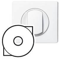 Лицевая панель - Программа Celiane - выключатель с ключом для светильников Кат. № 0 675 31 - белый