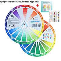 Цветовой круг для дизайнеров и художников ПРОФЕССИОНАЛЬНЫЙ для сочетания цветов 23см.