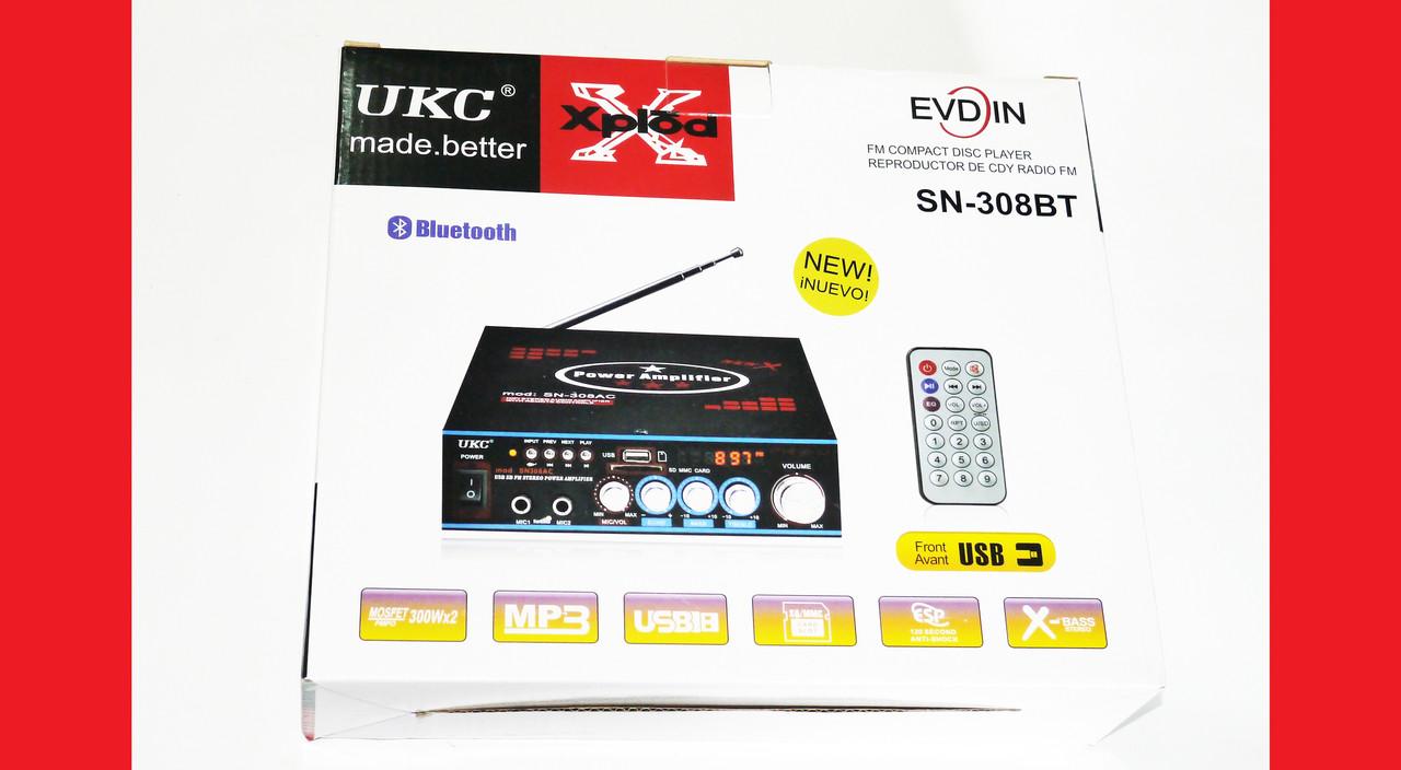 Усилитель звука UKC SN-308BT USB+SD+MP3, фото 1