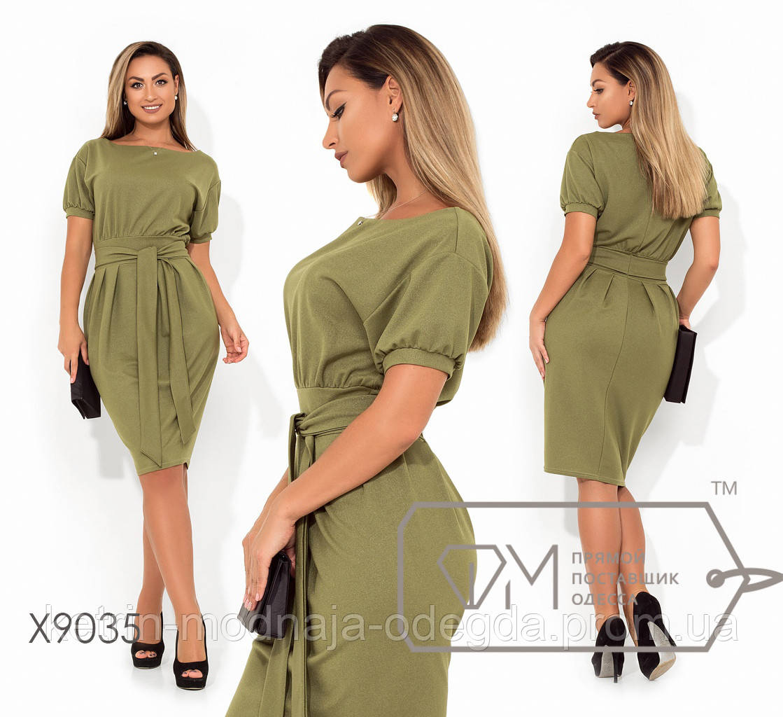 443b8bbe2c9 Модное стильное офисное женское платье большого размера 48