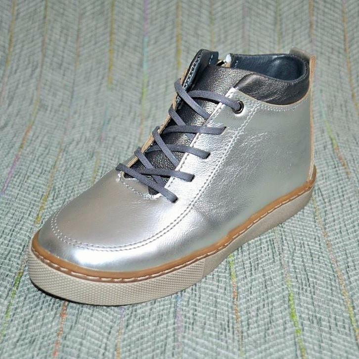 Весенние ботинки серебро, Broni размер 32 34