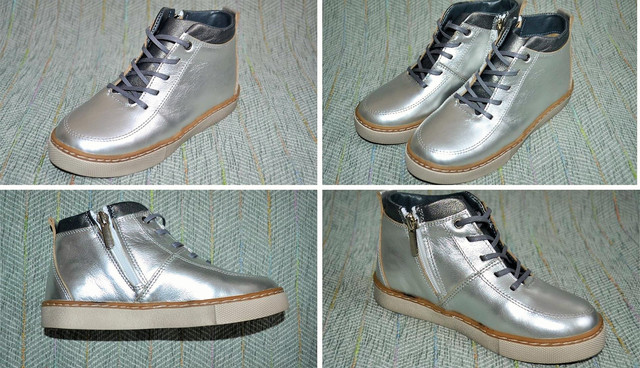 Ботинки весна серебро Брони фото