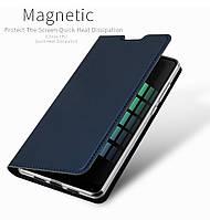 Чехол книжка Xiaomi Mi Mix 2s PU кожа  темно синий на магните
