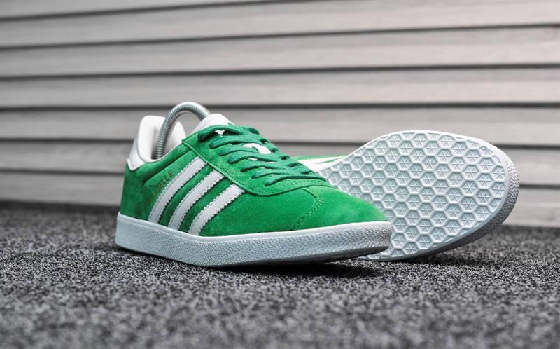 "Мужские кроссовки в стиле adidas Gazelle ""Green/White"", фото 3"