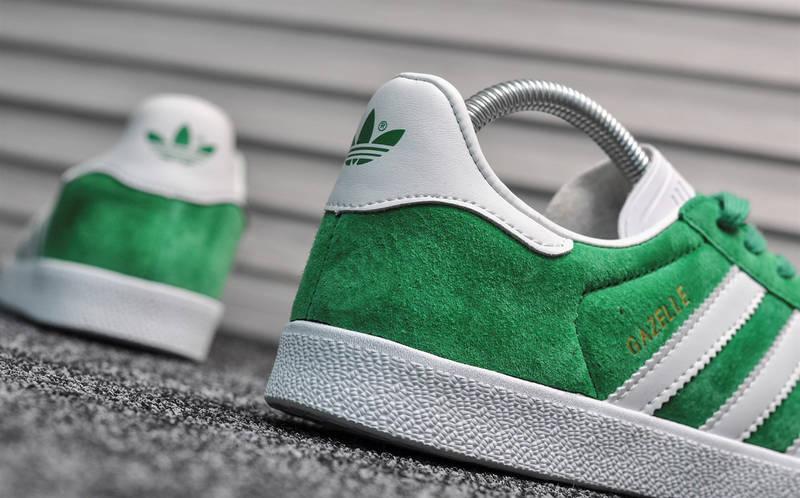 "Мужские кроссовки в стиле adidas Gazelle ""Green/White"", фото 7"