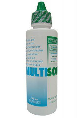 Раствор для контактных линз Multison 100 ml