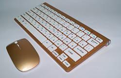 Клавиатура KEYBOARD + Мышка wireless 902 Apple