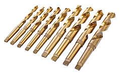 Комплект спиральных сверл HSS с конусом Морзе, TiN-покрытие., Set B
