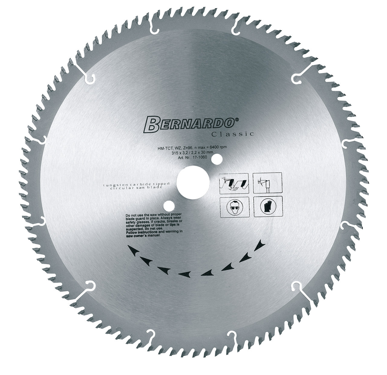 Круговий пильний диск HM Classic WZ - 300 x Z96