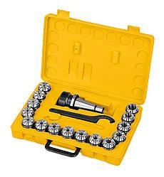 Набор цанг для фрезерного станка ER40, ISO 40, 3 - 25 мм