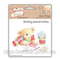 """Штамп силиконовый новогодний """"Sending special wishes"""", HCXCS10"""