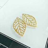 Листочок металевий - Gold - 3.5х2 см