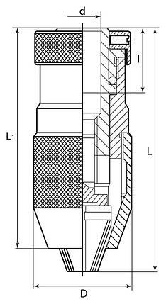 Быстродействующий патрон 1 - 16 мм/В 16, фото 2
