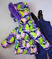 """Зимний детский термо комбинезон на рост 92 —116 см """"Rising фиолетовый"""""""