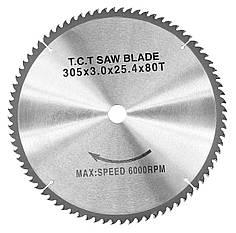 Карбидный круговой пильный диск WZ, 305 x 3.0 x 25.4 мм, Z80