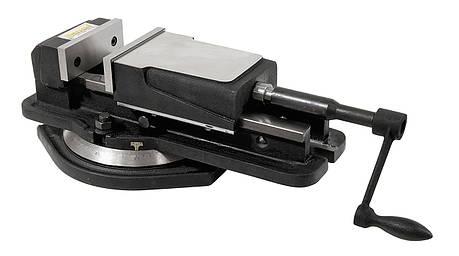 Станочные тиски поворотные с широким зажимом FJ 125 Bernardo, фото 2