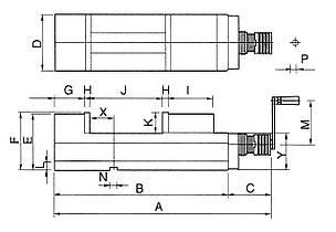 Прецизионные гидравлические тиски ЧПУ CHV 160 V Bernardo, фото 2