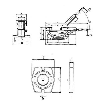 Двухосевые станочные тиски GS 100 Bernardo, фото 2