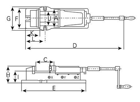 Гидравлические тиски VH 100, фото 2