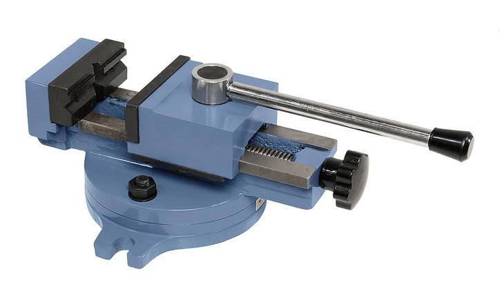 Быстрозажимные тиски станочные поворотные 80 мм SP 80 Bernardo, фото 2