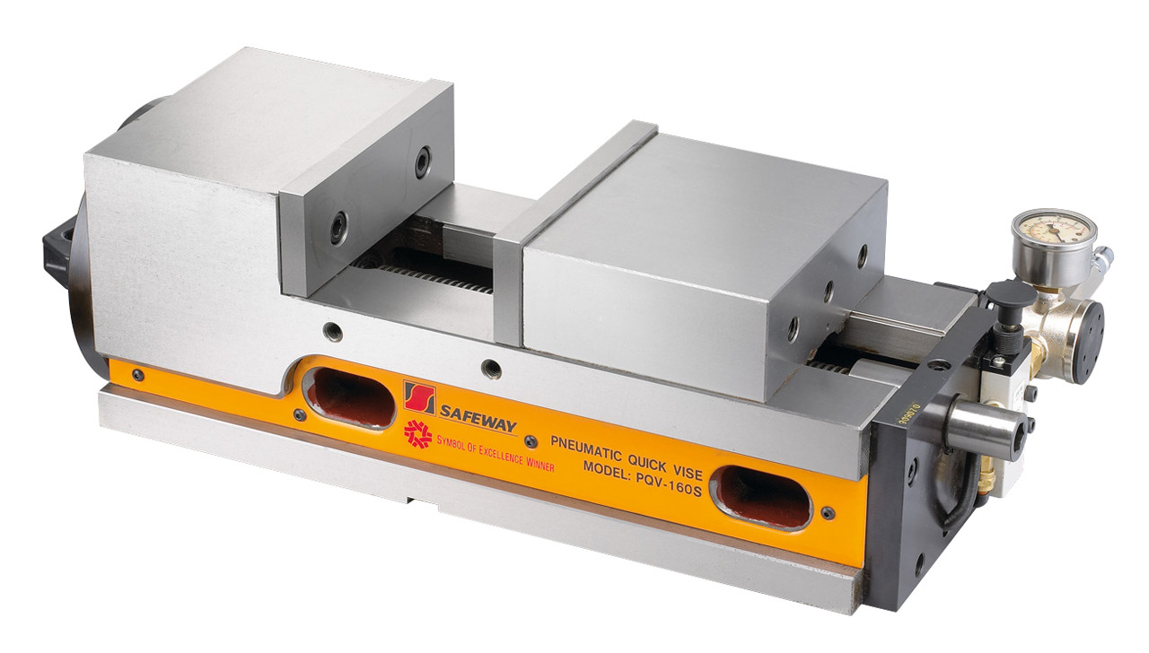Пневматические прецизионные тиски PQV 100 V Bernardo