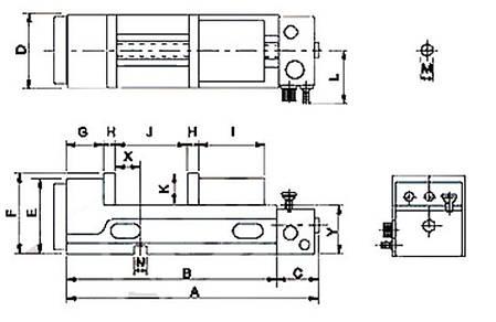Пневматические прецизионные тиски PQV 100 V Bernardo, фото 2