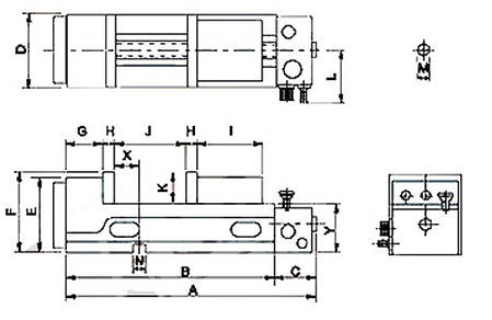 Пневматические прецизионные тиски PQV 200 V Bernardo, фото 2
