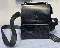 Мужская сумка Gorangd 9902-2 черная искусственная кожа, фото 1