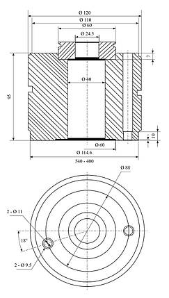 Быстрая смена стальной державки Multifix размер C, фото 2