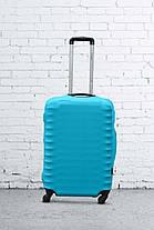 Чехол для чемодана Coverbag из дайвинга S (бирюза), фото 3
