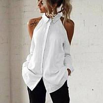 Рубашка с открытыми плечами, размер 42-44, Цвета белый, черный, красный, персик, фото 3