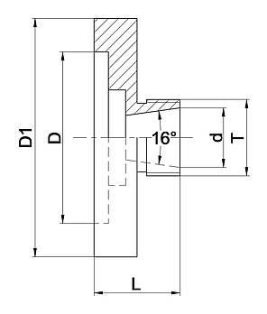 Цанговый патрон ER 25 - D 52, фото 2