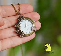 Часы карманные - подвеска «Тропические бабочки». Распродажа