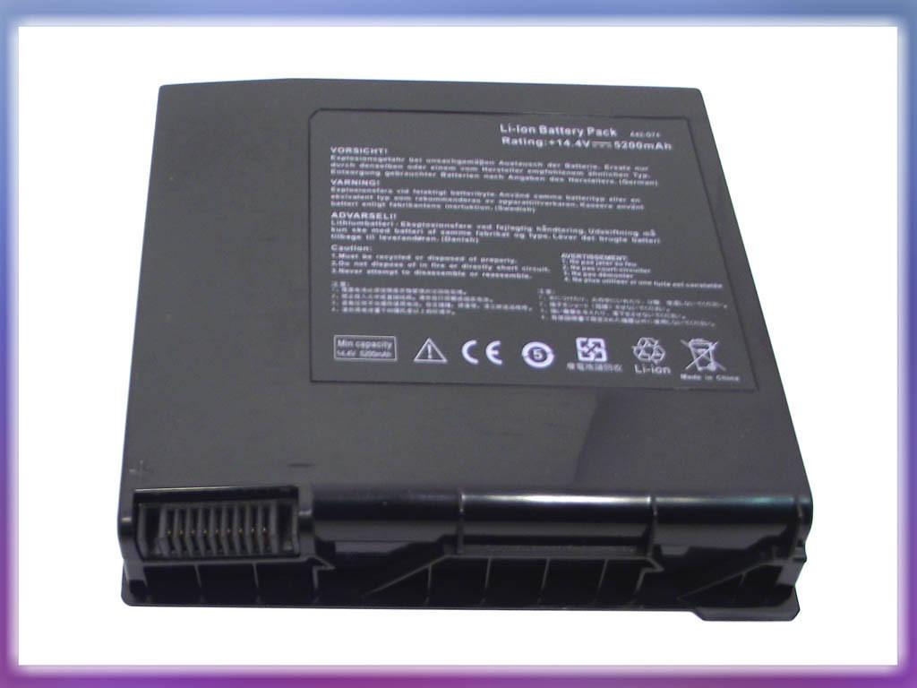 Аккумулятор ASUS (A42-G74, LC42SD128) G74 (14.8V 5200mAh Sanyo Cell).  3