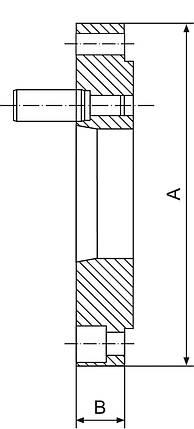 Конічний конічний фланець FLD-200/D4, фото 2